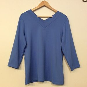 Susan Graver Quarter Sleeve Top